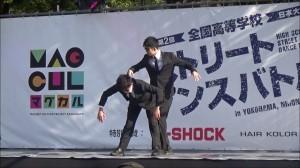 男子高校生2人によるアニメーションダンスがハイレベル!