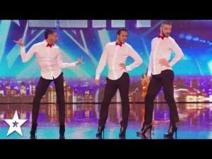 メンズ in ヒール!?ハイヒールで踊るフランス男達のダンスに観客全員総立ち!
